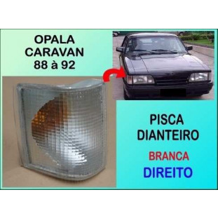 Lanterna Pisca Dianteiro Opala e Caravan 88 à 92 Branco Direito