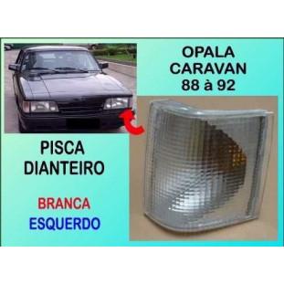 Lanterna Pisca Dianteiro Opala e Caravan 88 à 92 Branco Esquerdo