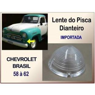 Lente do Pisca Dianteiro Chevrolet Brasil 58 à 62 Importado - Unitário