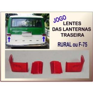 Lente Lanterna Traseira Rural F-75 - Jogo