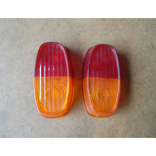 Lente Lanterna Traseira Carretinha Reboque Bicolor - Par