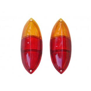Lente Lanterna Traseira Karmann Ghia até 1968 Bicolor - Par