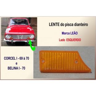 Lente Pisca Dianteiro Corcel I, Belina I 69 à 70 Leão Âmbar Esquerdo
