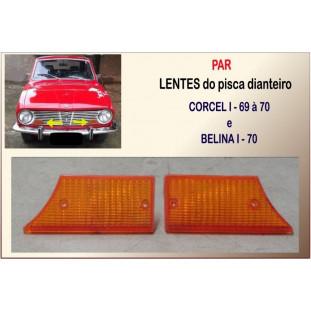 Lente Pisca Dianteiro Corcel I, Belina I 69 à 70 Âmbar - Par