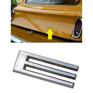 Letra E do Emblema Chevrolet da Tampa Traseira Veraneio até 1988