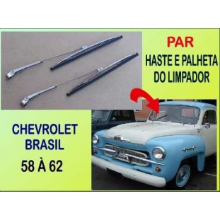 Haste e Palheta Limpador Chevrolet Brasil 58 à 62 Importado - Par