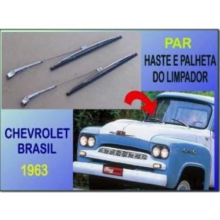 Haste e Palheta Limpador Chevrolet Brasil 63 Importado - Par