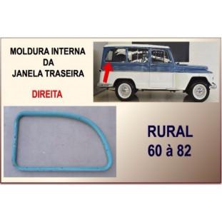 Moldura Interna Janela Traseira Rural 60 à 82 Original Direito