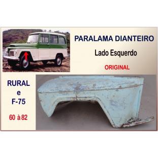 Paralama Dianteiro Rural e F-75 60 à 82 Original Esquerdo