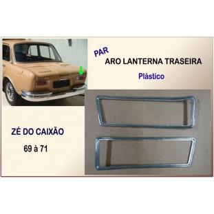 Aro Lanterna Traseira Zé Caixão 69 à 71 Original Plástico - Par