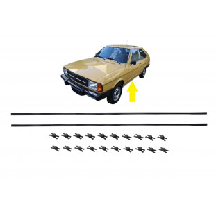 Friso Caixa Ar Estribo Preto Passat 1974 a 1989 C/ 20 Grampos - Par