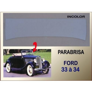 Vidro Parabrisa Ford 33 à 34 5mm Incolor