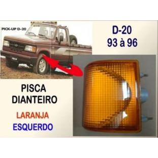 Pisca Dianteiro D-20 1993 À 1996 Laranja Esquerdo Novo