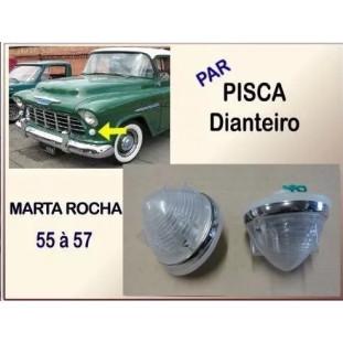 Pisca Dianteiro Foguetinho Chevrolet Marta Rocha 1955 a 1957 - Par