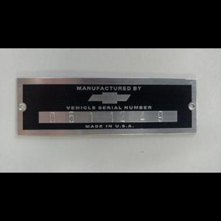 Plaqueta Identificação Chevrolet Antigos Serial Number Baixo Relevo
