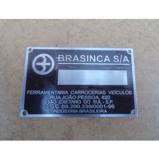 Plaqueta de Identificação da Caçamba Brasinca Nova