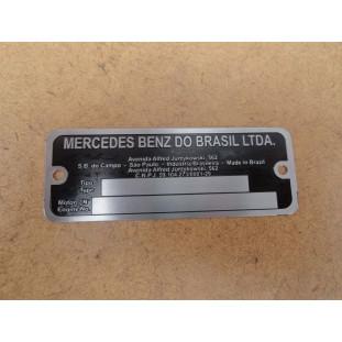 Plaqueta de Identificação do Motor Caminhão Mercedes 709