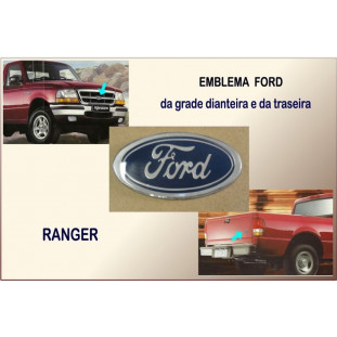 Ranger - Emblema Ford Oval Pequeno