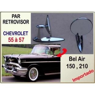 Retrovisor Chevrolet 55 a 57 Importado Par