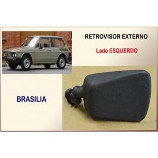 Retrovisor Esquerdo Preto Brasília