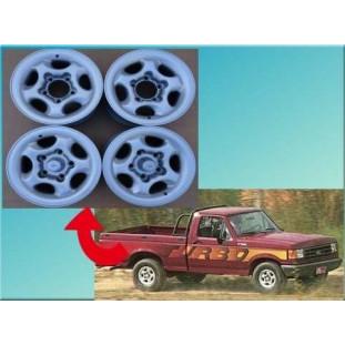 Roda Original Borlem F-1000 4x4 93 à 98 Aro 15 7 Polegadas Usadas - Jogo