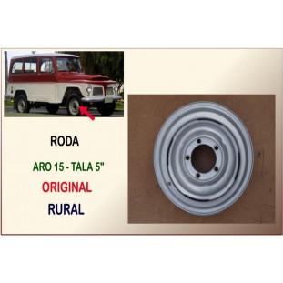 Roda Original Aro 15 Tala 5 Rural e F-75, Jeep 60 à 79 - Unitário