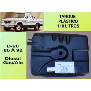 Tanque Combustível Plástico 110 Litros D-20 86 à 92