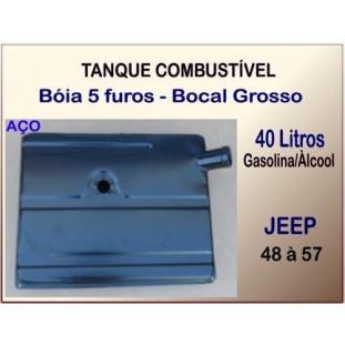 Tanque Combustível 40 Litros 48 à 57 Bóia 5 Furos Bocal Grosso