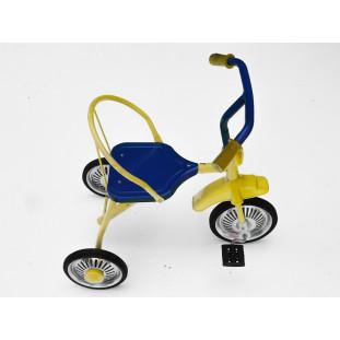 Triciclo Infantil  Estilo Antigo Retrô Amarelo e Azul Novo