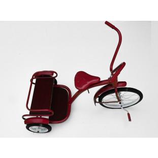 Triciclo Infantil Antigo Bandeirante 2 Irmãos Vermelho Original Usado