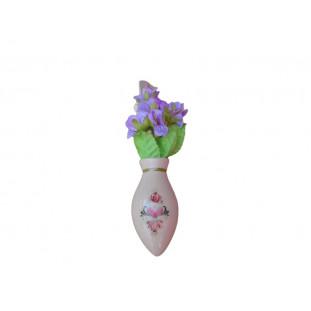 Vaso Vasinho Flor Decoração Painel Fusca Kombi Pequeno Aromatizante Novo