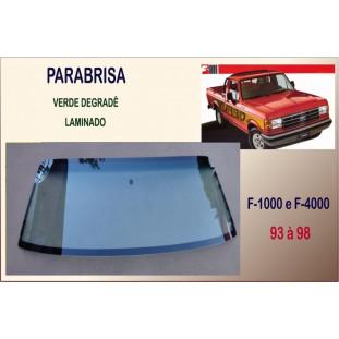 Vidro Parabrisa F-1000 93 à 98 Verde Degradê Laminado