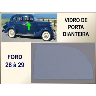 Vidro Porta Dianteira Ford 35 Incolor