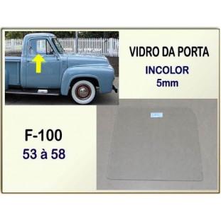 Vidro Porta F-100 1953 54 55 e 58 Incolor Novo