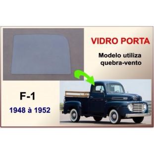 Vidro Porta F-1 48 à 52 Modelo Utiliza Quebra Vento Incolor