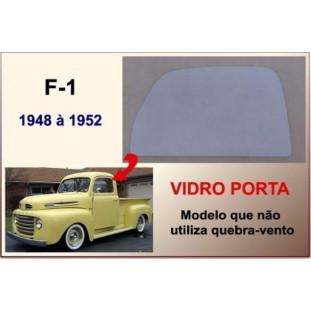 Vidro da Porta F-1 48 à 52 Modelo não Utiliza Quebra Vento Incolor