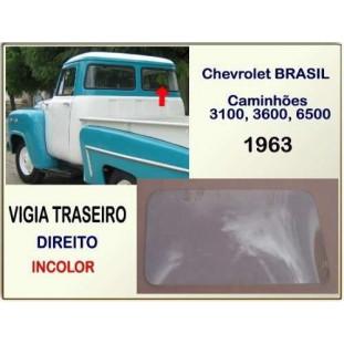 Vigia Traseiro Chevrolet Brasil 63 Laminado Incolor Direito