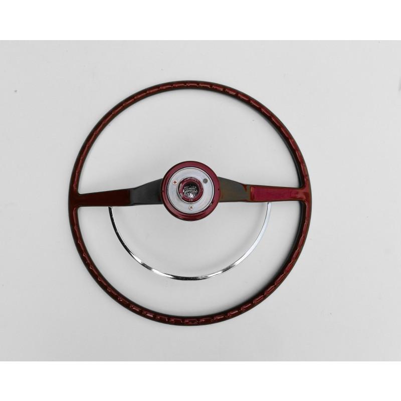 Volante Cálice Fusca até 73 Vermelho Cereja Completo Novo Estria Grossa Reprodução