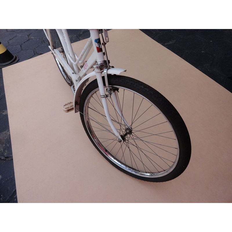 Bicicleta Antiga Feminina Poti Caloi Aro 26 Branca Original Década 80