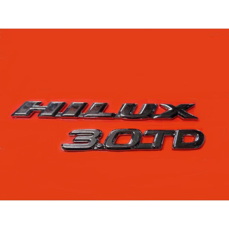Emblema Hilux 3.0-TD Kit 2 Cromado Toyota 2002 á 2005