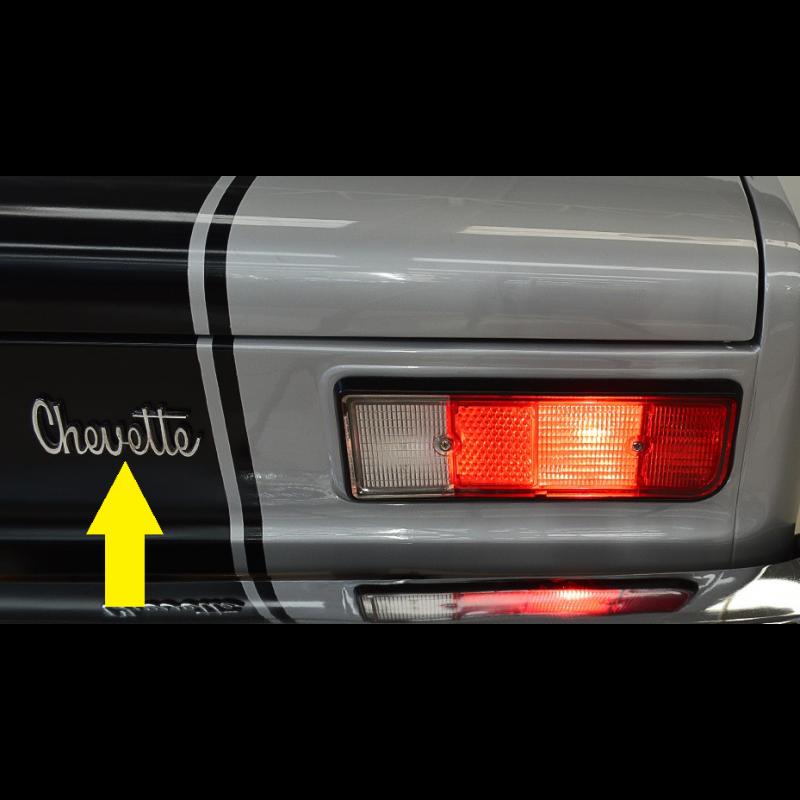 Emblema Manuscrito Chevette Capô e Traseira Original Usado