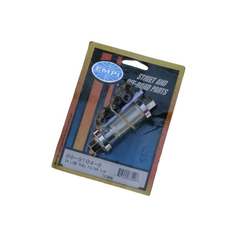 Filtro de Combustível Lavável de Vidro Empi 1/4 5/16 3/8 Importado Universal
