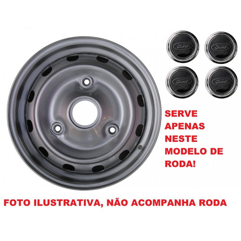 Calota Preta Ford Corcel II Belina II Aro 13 - Jogo