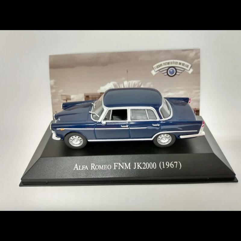 Miniatura Alfa Romeo FNM JK 2000 Carros Inesquecíveis do Brasil