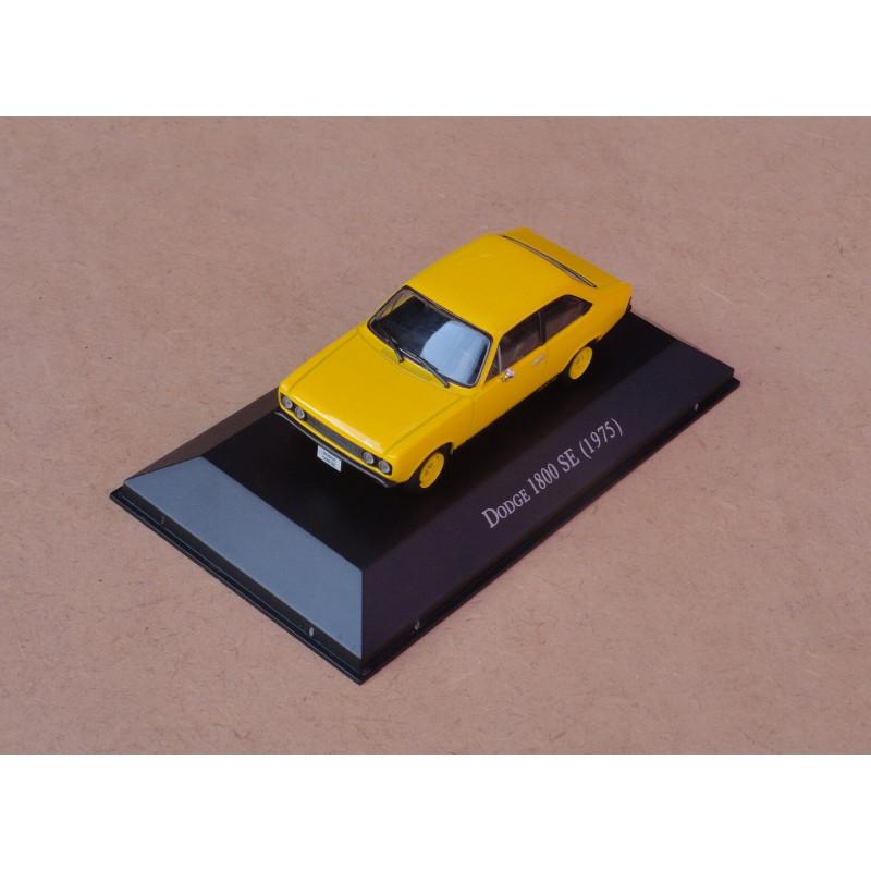 Miniatura Dodge Polara SE 1975 Amarelo Carros Inesquecíveis
