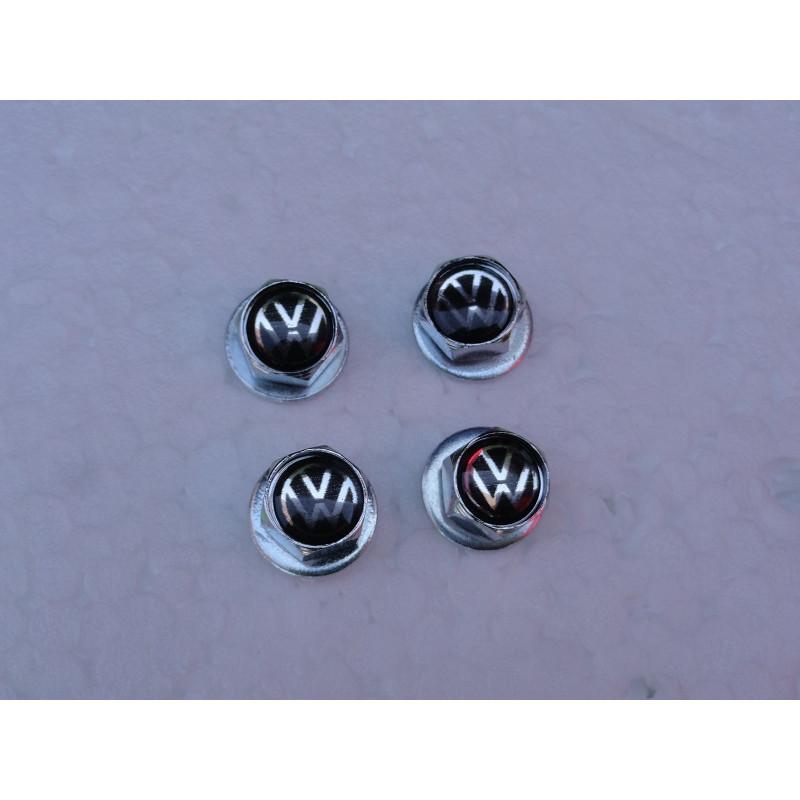 Parafuso Placa Logo Volkswagen Resinado Jogo com 4