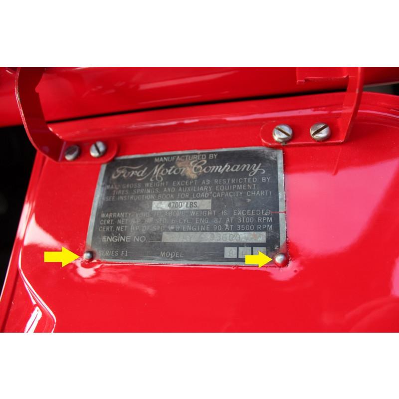 Rebite Fixação Plaqueta Identificação Chassis Motor - Par